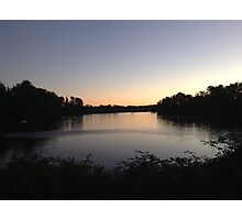 Horseshoe Lake - Evening Sky Photographic Print