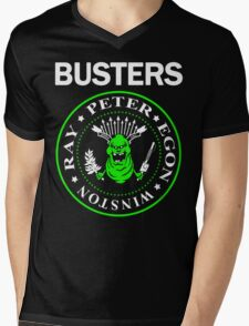 BUSTERS Mens V-Neck T-Shirt