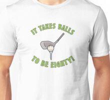 80th Birthday Golf Humor Unisex T-Shirt