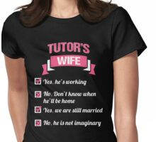 TUTOR'S WIFE Womens Fitted T-Shirt