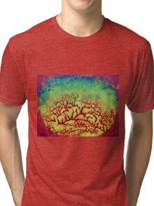 """Forest Fire No.4"" original artwork Tri-blend T-Shirt"