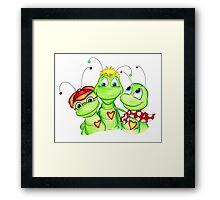 Grasshopper family picture Framed Print