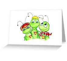 Grasshopper family picture Greeting Card
