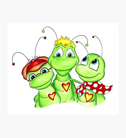 Grasshopper family picture Photographic Print