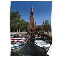Rowing Boats, Plaza de Espana Poster
