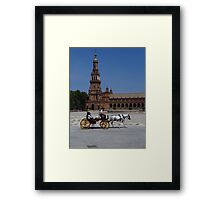 Horse and Carriage, Seville Framed Print