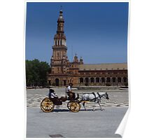 Horse and Carriage, Seville Poster