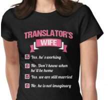 TRANSLATOR'S WIFE Womens Fitted T-Shirt