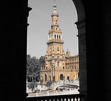 Plaza de Espana, Sevilla ( Beige ) by wiggyofipswich