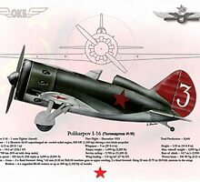 Polikarpov I-16 by A. Hermann