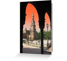 Plaza De Espana, Sevilla ( Naranja ) Greeting Card