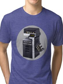 ☝ ☞ BEER PHOTOCOPIER TEE SHIRT☝ ☞ Tri-blend T-Shirt