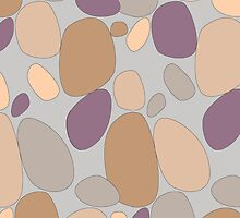 Pebble pattern in grey and purple tones by CClaesonDesign