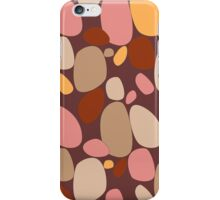 Warm earth colored pebble and stone pattern iPhone Case/Skin