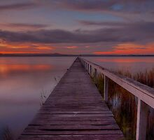 Long Jetty Sunset. by Julie  White