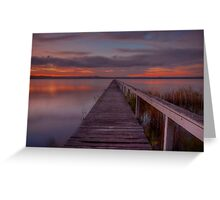 Long Jetty Sunset. Greeting Card