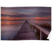 Long Jetty Sunset. Poster