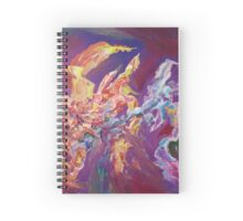 """Turbulence"" original abstract artwork by Laura Tozer Spiral Notebook"