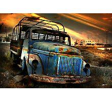Diesel Blue, Santorini Photographic Print