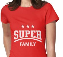 Super Family (White) Womens Fitted T-Shirt