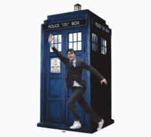 David Tennant and the Tardis by FrodoBaggins