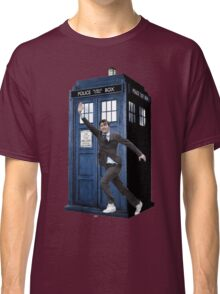 David Tennant and the Tardis Classic T-Shirt