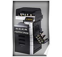 ✿♥‿♥✿BEER PHOTOCOPIER PICTURE / CARD..CAN U IMAGINE WHAT IF LOL HA ✿♥‿♥✿ Poster