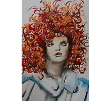 Lilly Cole Afro Painting Photographic Print