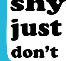 I don't talk rubbish, sticker Sticker