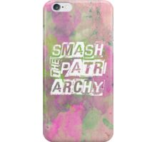 Smash the Patriarchy! iPhone Case/Skin