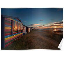 Hopeman Beach Huts Poster