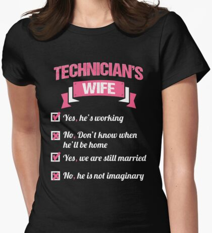 TECHNICIAN'S WIFE Womens Fitted T-Shirt