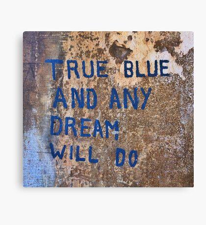 True Blue - Chiara Conte Canvas Print