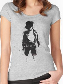 Michael Jackson ink Portrait Women's Fitted Scoop T-Shirt