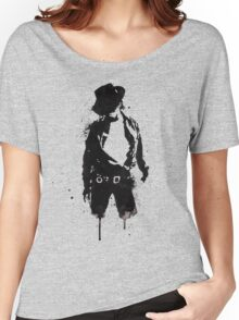 Michael Jackson ink Portrait Women's Relaxed Fit T-Shirt