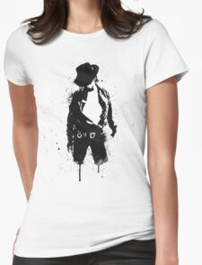 Michael Jackson ink Portrait Womens Fitted T-Shirt