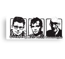 Beat Trinity: Kerouac, Burroughs and Ginsberg  Canvas Print