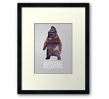 Bears Beets Battlestar Galactica - Poster Framed Print