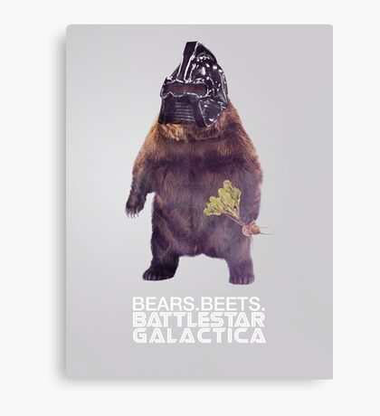 Bears Beets Battlestar Galactica - Poster Canvas Print