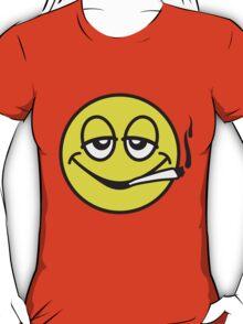Smoking Smiley T-Shirt