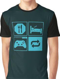 Eat, Sleep, Game, Repeat. Graphic T-Shirt