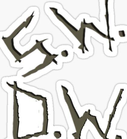 D.W. S.W. impala carvings Sticker