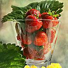 Strawberries anyone ? by Irene  Burdell