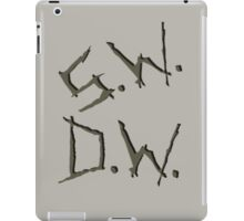 D.W. S.W. impala carvings iPad Case/Skin