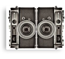 Double YASHICA_B&W Canvas Print