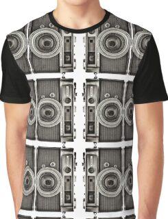 Double YASHICA_B&W Graphic T-Shirt