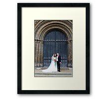 Bride and Groom Framed Print