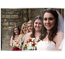 Bride and Bridesmaids Poster