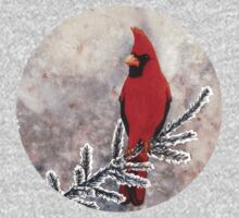 The red cardinal in winter Kids Tee