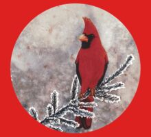 The red cardinal in winter One Piece - Long Sleeve